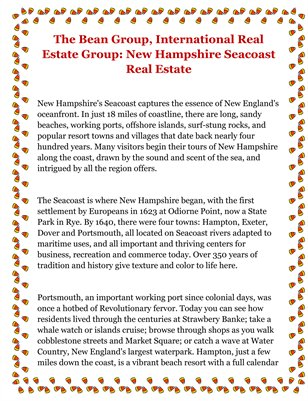 The Bean Group, International Real Estate Group: New Hampshire Seacoast Real Estate