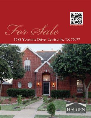 Haugen Properties -  1688 Yosemite Drive,Lewisville,7507