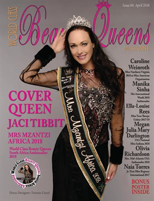 World Class Beauty Queens Magazine Issue 69 with Jacqueline Tibbit