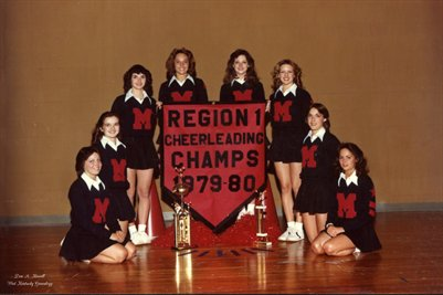 Region 1 Cheerleading Champs 1979-1980, Mayfield High School Cheerleader, Graves County, Kentucky