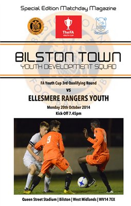 Bilston Town Youth v Ellesmere Rangers 20/10/14 FA Youth Cup