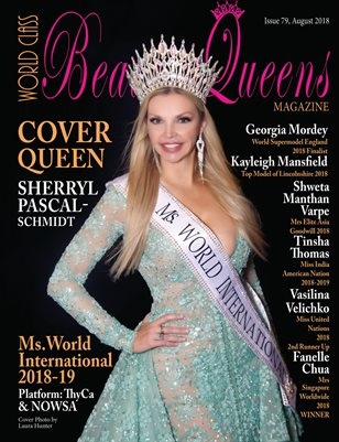 World Class Beauty Queens Magazine Issue 79 with Sherryl Pascal-Schmidt