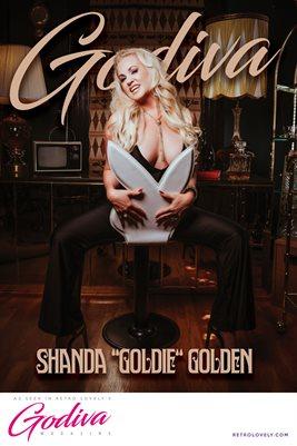 "GODIVA No.18 – Shanda ""Goldie"" Golden Cover Poster"