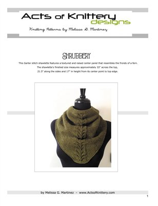 Shrubbery Shawl Knitting Pattern