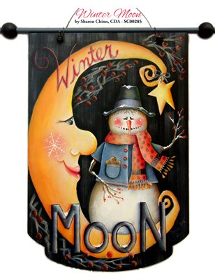 Winter Moon Painting Tutorial by Sharon Chinn SC00285
