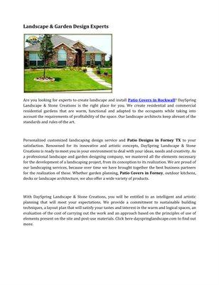 Landscape & Garden Design Experts