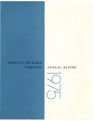 HP Annual Report 1975