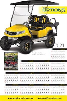 2021 Golf Cart Poster Calendar