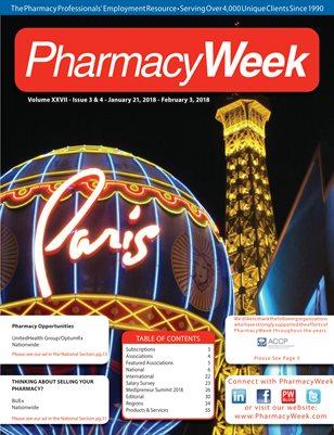 Pharmacy Week, Volume XXVII - Issue 3 & 4 - January 21, 2018 - February 3, 2018