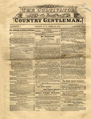 April 22nd, 1869 Country Gentleman, Albany, New York