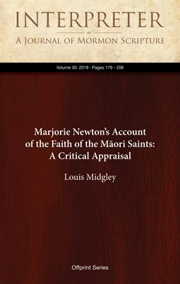 Marjorie Newton's Account of the Faith of the Māori Saints: A Critical AppraisalNew Publication