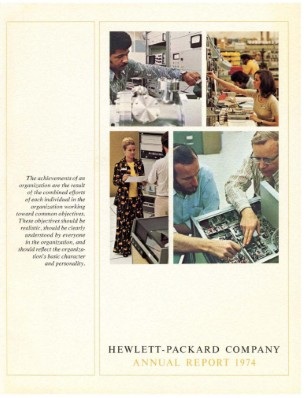 HP Annual Report 1974
