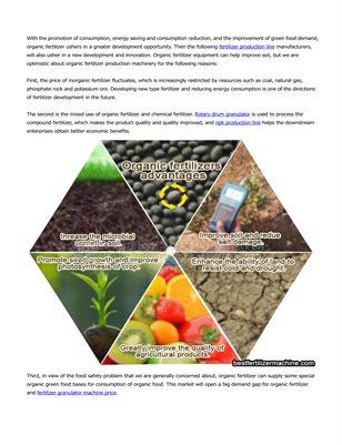 Organic fertilizer production machinery can improve soil organic matter content