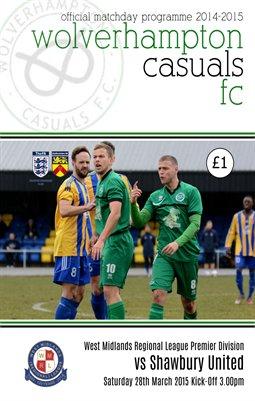 Wolverhampton Casuals v Shawbury United 28/3/15