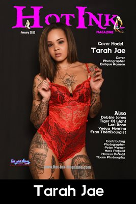 HOT INK MAGAZINE COVER POSTER - Cover Model Tarah Jae - January 2020