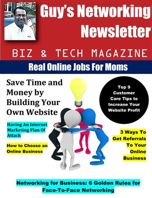 Guy's Networking Newsletter Biz and Tech Magazine September Issue