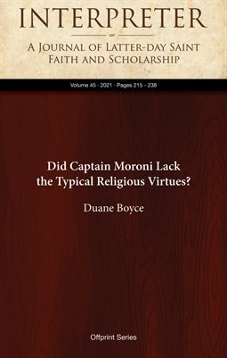 Did Captain Moroni Lack the Typical Religious Virtues?