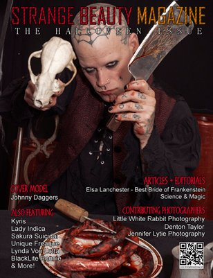 Strange Beauty Magazine - Halloween Edition (Male Cover)