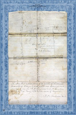 1874 Simpson Family Land Plat Map, McCracken County, Kentucky
