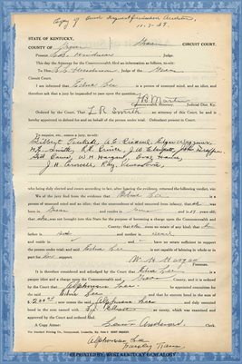 1939 State of Kentucky vs. EDNA LEE, Graves County, Kentucky