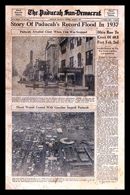 "MARCH 07, 1937 COVER PAGE ""STORY OF PADUCAH'S RECORD FLOOD IN 1937"""