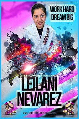 Leilani Nevarez Pink Blue Poster