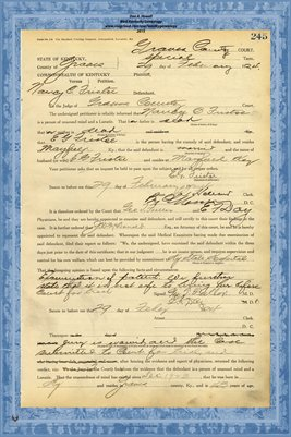1924 State of Kentucky vs. Nancy C. Fristoe , Graves County, Kentucky
