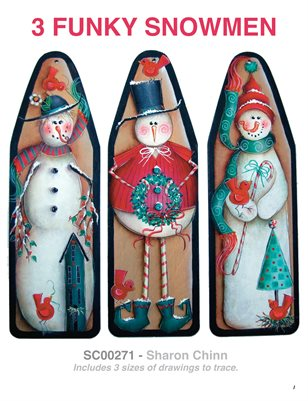 3 Funky Snowmen Painting Tutorial by Sharon Chinn SC00271