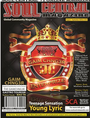 Soul Central Magazine August / September 2016 Edition