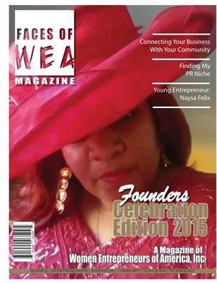 FACES OF WEA MAGAZINE -Founder's Celebration Edition