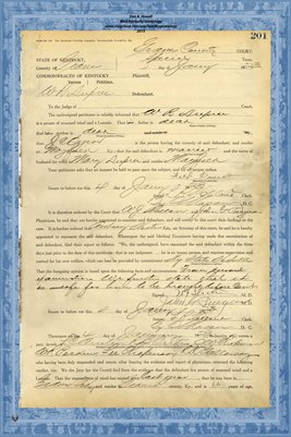 1923 State of Kentucky vs. W.R. Dupree, Graves County, Kentucky