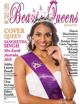 World Class Beauty Queens Magazine Issue 62 with Sangeetha Singh