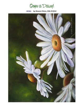 Oops a Daisy Printed Painting Pattern by Sharon Chinn