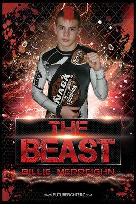 Billie Merreighn Red Beast Poster