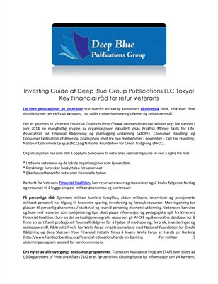 Investing Guide at Deep Blue Group Publications LLC Tokyo: Key Financial råd for retur Veterans