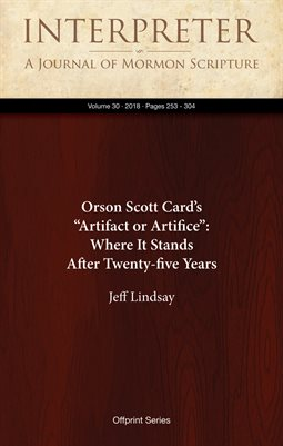 "Orson Scott Card's ""Artifact or Artifice"": Where It Stands After Twenty-five Years"