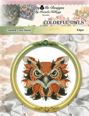 Colorful Owls Edgar Counted Cross Stitch Pattern