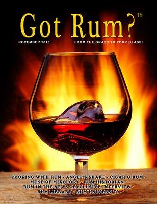 """""""Got Rum?"""" November 2015"""