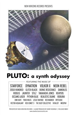 PLUTO: A Synth Odyssey - Release Poster (White Version)