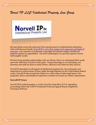 Norvel IP LLC Intellectual Property Law Group