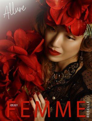 Femme Rebelle Magazine February 2021 ALLURE ISSUE - V's Anchor Studio Cover