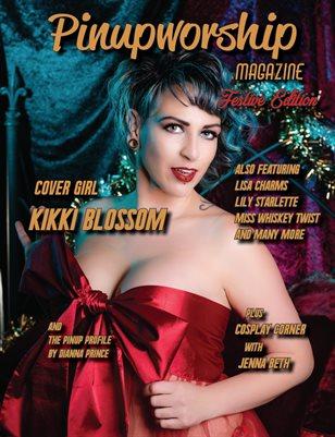 Pinupworship Magazine Festive Edition, Kikki Blossom Cover