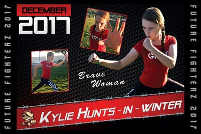 Kylie Hunts-in-winter Cal Poster 2017