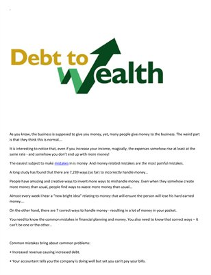 Meir Ezra: From debt to wealth
