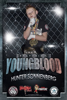 Hunter Sonnenberg Caged Grit Poster