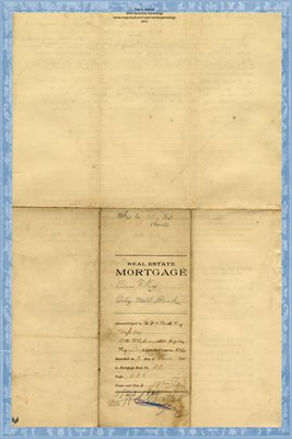1901 Mortgage, Key to City National Bank. Graves County, Kentucky