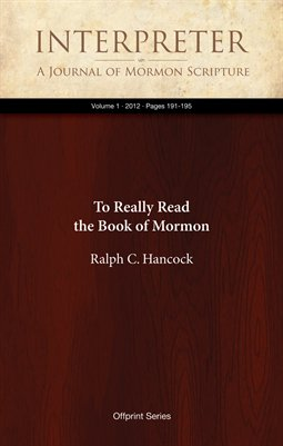 To Really Read the Book of Mormon