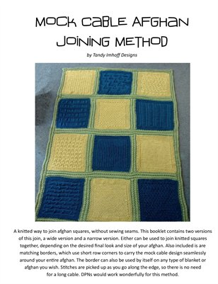 Mock Cable Afghan Joining & Border