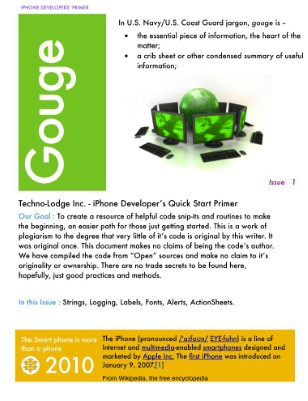 Issue 1 : iPhone Primer