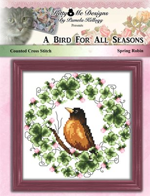 A Bird For All Seasons Spring Robin Cross Stitch Pattern